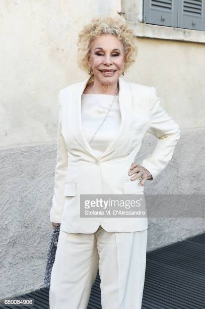 Ornella Vanoni attends a 'Private view of 'TV 70 Francesco Vezzoli Guarda La Rai' at Fondazione Prada on May 7 2017 in Milan Italy