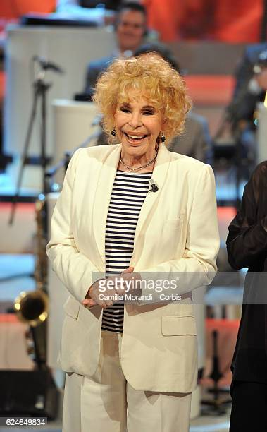 Ornella Vanoni attends 'Domenica In' tv show on November 20 2016 in Rome Italy