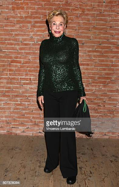 Ornella Vanoni attends the 'Casa Di Bambola' Opening Night at Teatro Parenti on January 28 2016 in Milan Italy