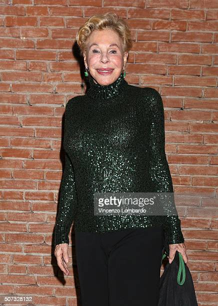 Ornella Vanoni attends the 'Casa Di Bambola' Opening Night at Teatro Parenti on January 28 2016 in Milan Italy