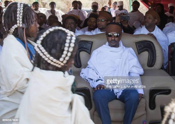 Oromia state president Lemma Megerssa during the Gada system ceremony in Borana tribe Oromia Yabelo Ethiopia on March 7 2017 in Yabelo Ethiopia