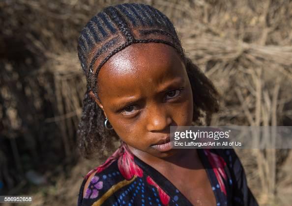 Oromo Girl With A Nice Hairstyle Amhara Region Artuma Ethiopia On