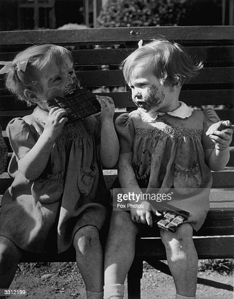 Orphans enjoy sweets 'off the ration' for the first time in their lives as leading chocolate manufacturers gave enough of their stocks to allow 7000...