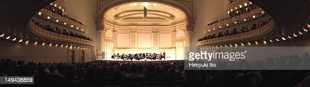 Orpheus Chamber Orchestra performing at Carnegie Hall on Saturday night March 24 2012Image shows Orpheus Chamber Orchestra performing Bernstein's...