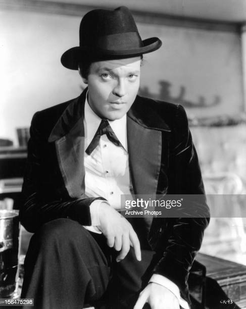 Orson Welles in a scene from the film 'Citizen Kane' 1941