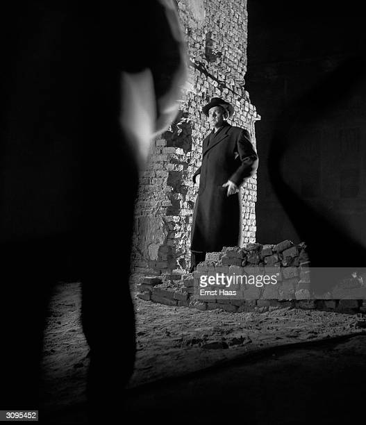 Orson Welles plays the elusive Harry Lime in the postwar thriller 'The Third Man' filmed on location in Vienna