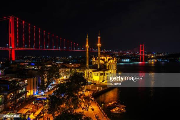 Ortakoy Mosque and Bosphorus Bridge in the background istanbul, Turkey