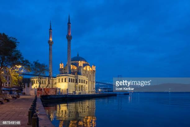 Ortakoy Mosque at dusk,Istanbul,Turkey