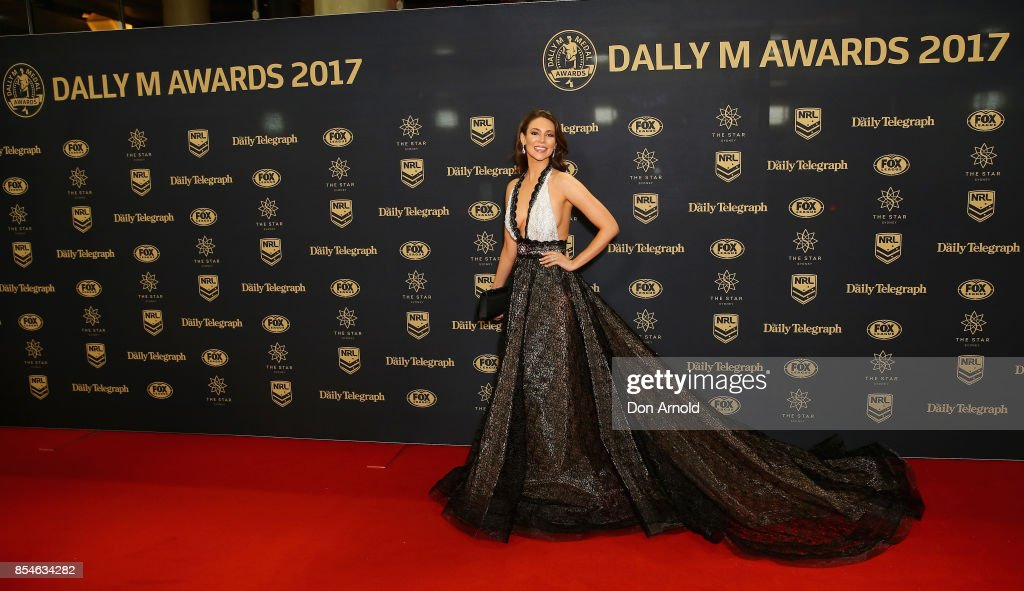 Ortenzia Borre arrives ahead of the Dally M Awards at The Star on September 27, 2017 in Sydney, Australia.
