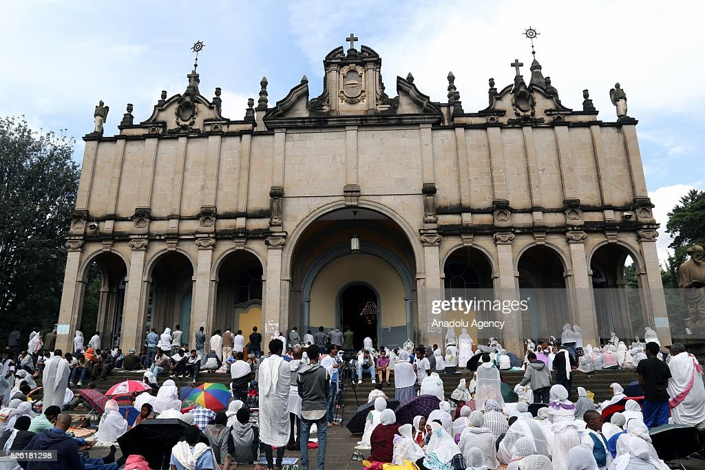 Orthodox Christians observe Good Friday ahead of the Easter at the Selassie Cathedral in Addis Ababa, Ethiopia on April 29, 2016. Good Friday is a Christian religious holiday commemorating the crucifixion of Jesus Christ and his death at Calvary.