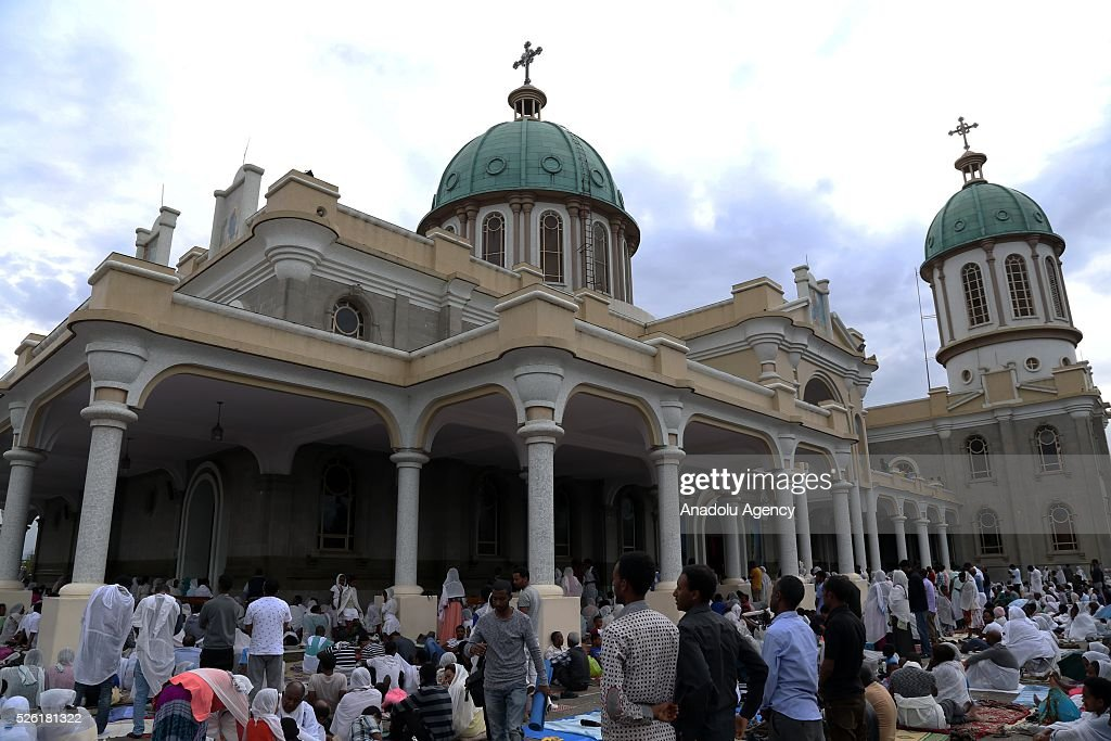Orthodox Christians observe Good Friday ahead of the Easter at the Medhane Alem Cathedral in Addis Ababa, Ethiopia on April 29, 2016. Good Friday is a Christian religious holiday commemorating the crucifixion of Jesus Christ and his death at Calvary.