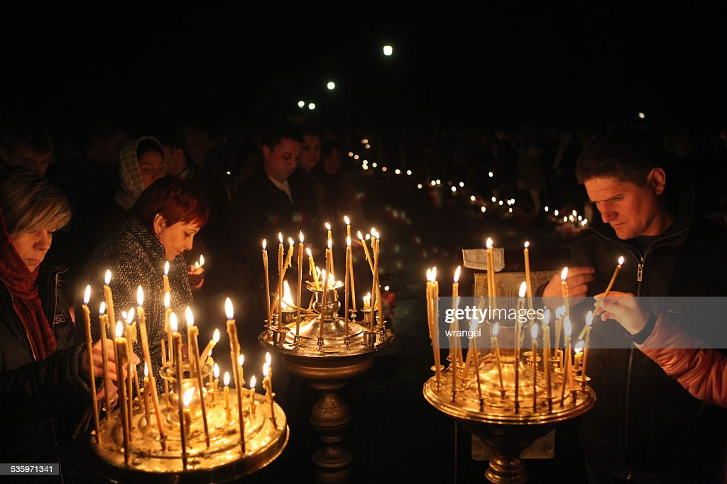 Orthodox Easter in Prague, Czech Republic : Stock Photo