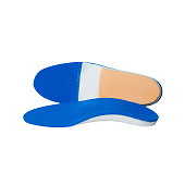 orthotics on a white background. Insert in shoes to support the foot