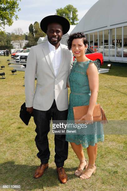 Ortis Deley and guest attend the Audi Polo Challenge at Coworth Park on May 7 2017 in London United Kingdom