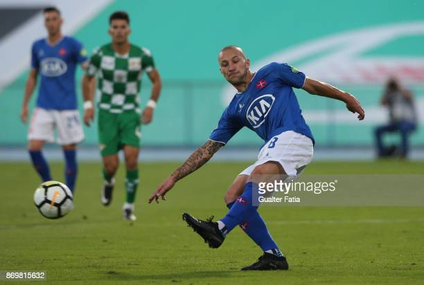 Os Belenenses midfielder Andre Sousa from Portugal in action during the Primeira Liga match between CF Os Belenenses and Moreirense FC at Estadio do...