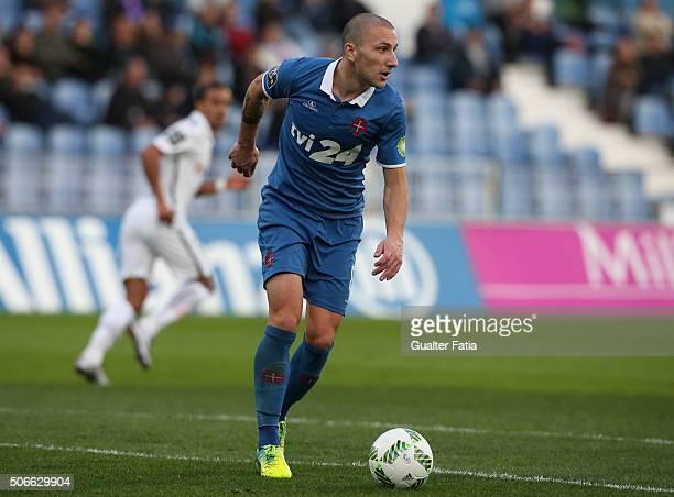 Os Belenenses midfielder Andre Sousa in action during the Primeira Liga match between Os Belenenses and Vitoria de Guimaraes at Estadio do Restelo on...