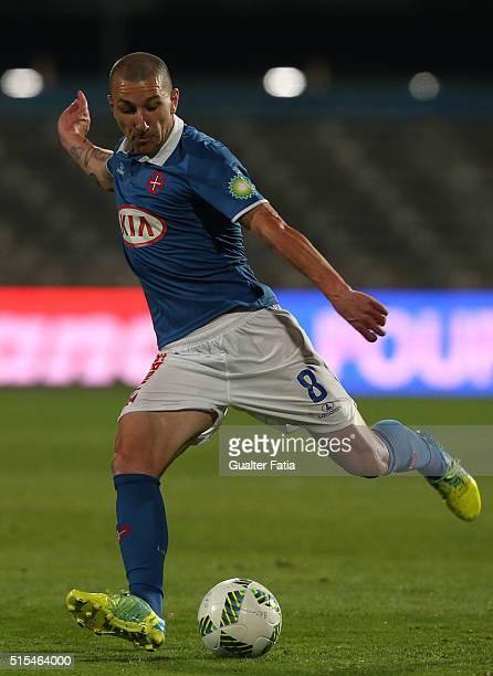 Os BelenensesÕ midfielder Andre Sousa in action during the Primeira Liga match between Os Belenenses and SC Braga at Estadio do Restelo on March 13...