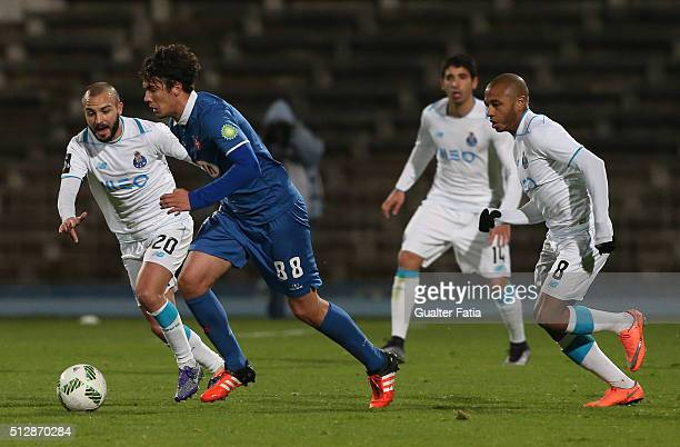 Os Belenenses midfielder from Montenegro Marko Bakic in action during the Primeira Liga match between Os Belenenses and FC Porto at Estadio do...