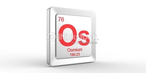 Os Symbol 76 Material For Osmium Chemical Element Stock Photo