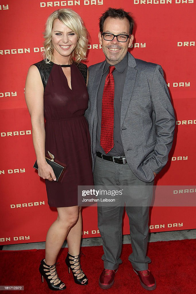 Osa Wallander and Jefferey Travis attend the 'Dragon Day' Red Carpet at Downtown Independent Theatre on September 23, 2013 in Los Angeles, California.