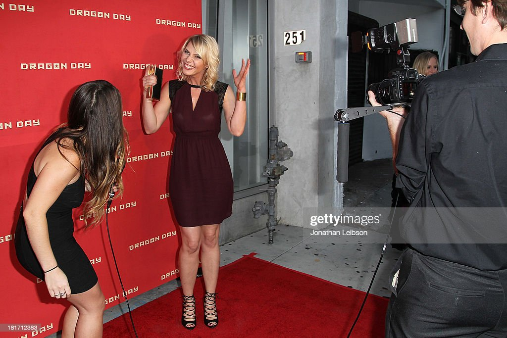 Osa Wallander (C) attends the 'Dragon Day' Red Carpet at Downtown Independent Theatre on September 23, 2013 in Los Angeles, California.