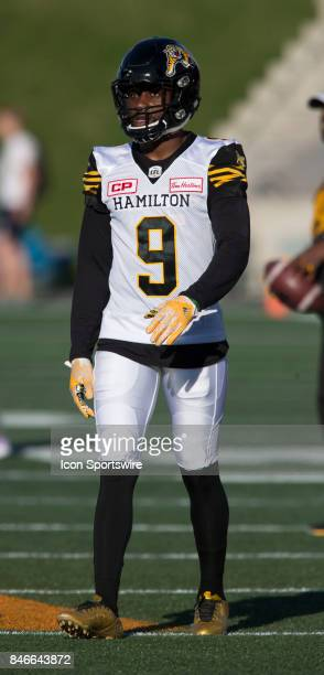 Osagie Odiase of the Hamilton TigerCats in Canadian Football League Action at TD Place Stadium in Ottawa Canada on Saturday September 9 2017 The...