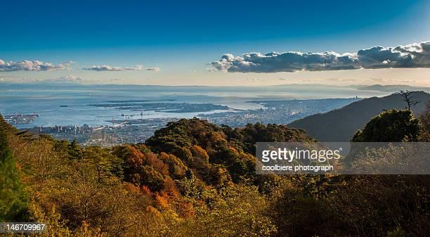 Osaka bay from Rokko mountain