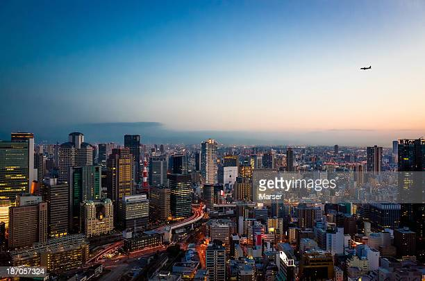 Osaka city from 170 meters high