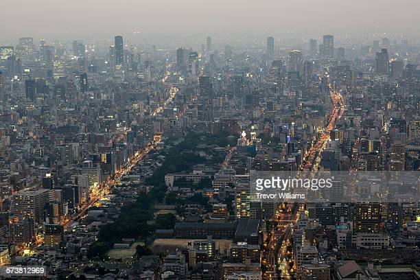 Osaka seen from above