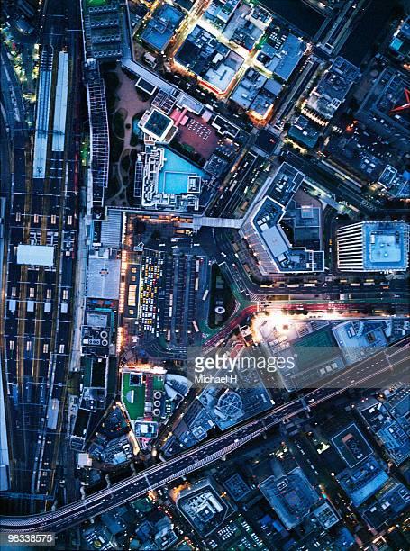 Osaka Station aerophotograph