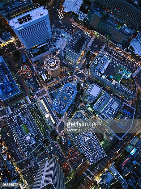 Osaka Umeda aerophotograph