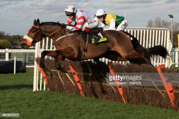 Osako D'Airy ridden by Richard Johnson and Afsoun ridden by Mich Fitzgerald during The totepool Contenders Hurdle Race