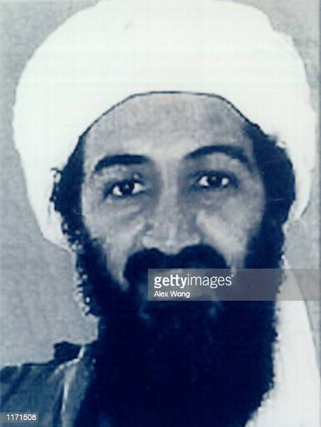 Osama bin Laden prime suspect of the September 11th attacks in the United States is shown in this photo released by the FBI October 10 2001 in...