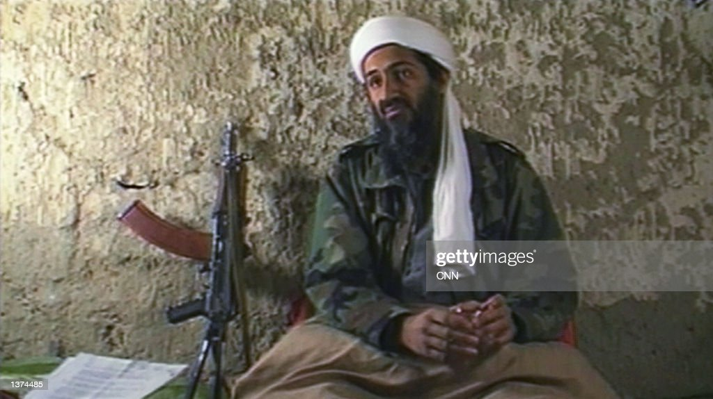 Osama Bin Laden the Saudi millionaire and fugitive leader of the terrorist group al Qaeda explains why he has declared a 'jihad' or holy war against...