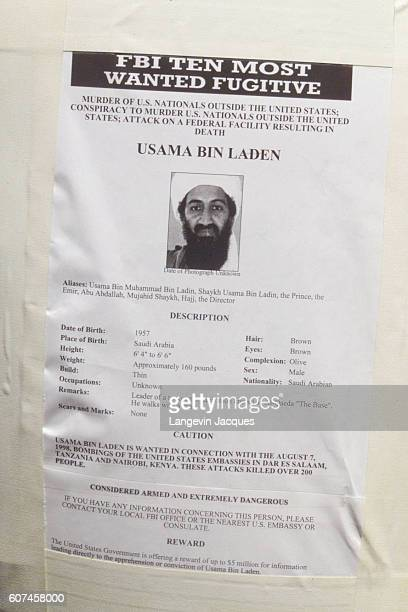 Osama Bin Laden 'Wanted' posters are appearing all over Manhattan in the wake of the World Trade Center attacks of September 11