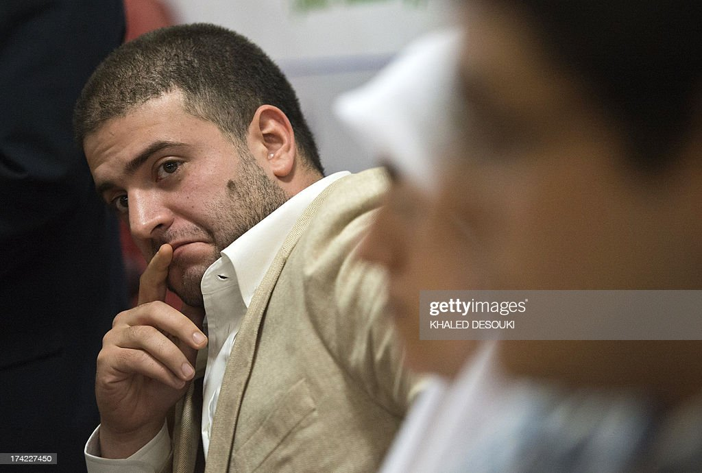 Osama Mohamed Morsi son of Egypt's ousted president Mohamed Morsi listens during a press conference in Cairo on July 22, 2013. The family of Morsi is to take legal action against Egypt's army chief, General Abdel Fattah al-Sisi, for 'kidnapping' the Islamist president, his daughter Shaimaa Mohamed said.