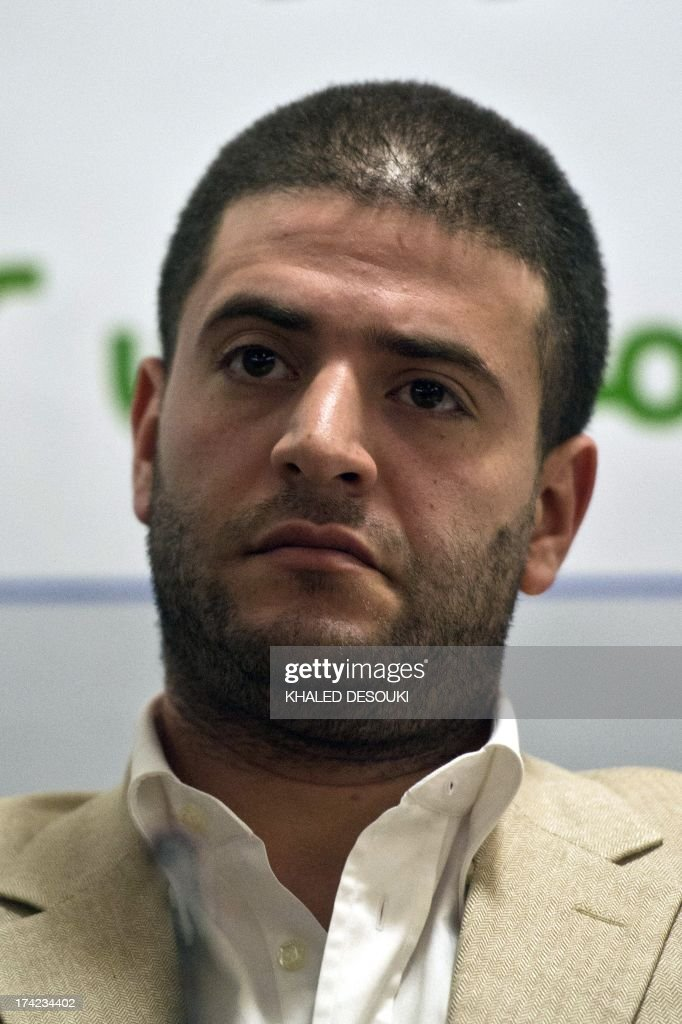 Osama Mohamed Morsi son of Egypt's ousted president Mohamed Morsi reacts during a press conference in Cairo on July 22, 2013. The family of Morsi is to take ... - osama-mohamed-morsi-son-of-egypts-ousted-president-mohamed-morsi-a-picture-id174234402