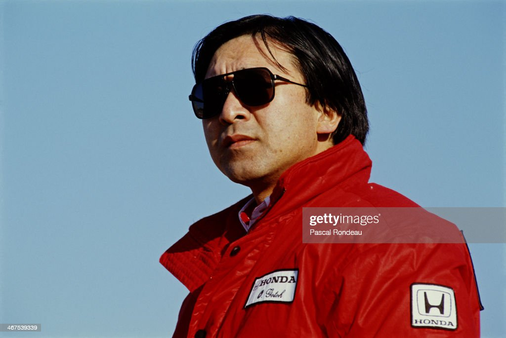 Osamu Goto of Japan engine development engineer for Honda during pre season testing on 1st February 1990 at the Circuit of Jerez in Jerez de la...