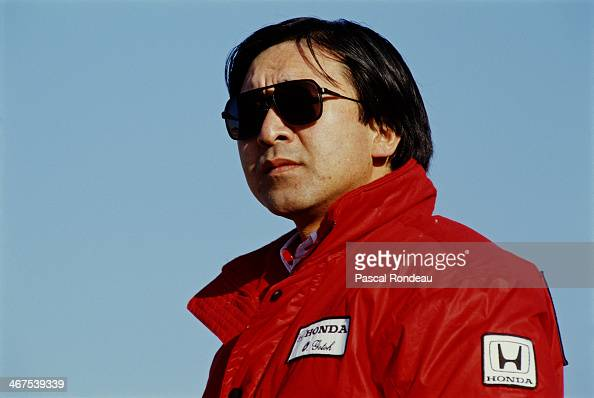Osamu Goto of Japan engine development engineer for Honda during pre season testing on 1st February 1990 at the Circuit of Jerez in Jerez de la...