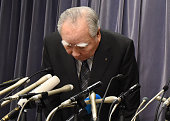 Osamu Suzuki chairman of Japan's automaker Suzuki bows during a press conference in Tokyo on May 18 2016 Suzuki on May 18 admitted it has found...