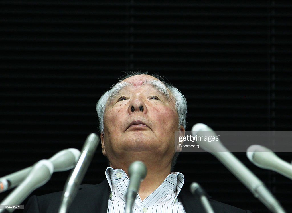<a gi-track='captionPersonalityLinkClicked' href=/galleries/search?phrase=Osamu+Suzuki&family=editorial&specificpeople=580987 ng-click='$event.stopPropagation()'>Osamu Suzuki</a>, chairman of Suzuki Motor Corp., pauses during a news conference in Tokyo, Japan, on Monday, Sept. 12, 2011. Suzuki Motor Corp. will seek to dissolve its 20-month-old alliance with Volkswagen AG after the German carmaker's 222.5 billion yen ($2.9 billion) investment failed to yield a single project. Photographer: Koichi Kamoshida/Bloomberg via Getty Images