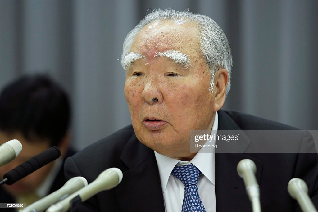 <a gi-track='captionPersonalityLinkClicked' href=/galleries/search?phrase=Osamu+Suzuki&family=editorial&specificpeople=580987 ng-click='$event.stopPropagation()'>Osamu Suzuki</a>, chairman, president and chief executive officer of Suzuki Motor Corp., speaks during a news conference in Tokyo, Japan, on Monday, May 11, 2015. Suzuki forecasted 14 percent profit increase missing estimates. Photographer: Kiyoshi Ota/Bloomberg via Getty Images