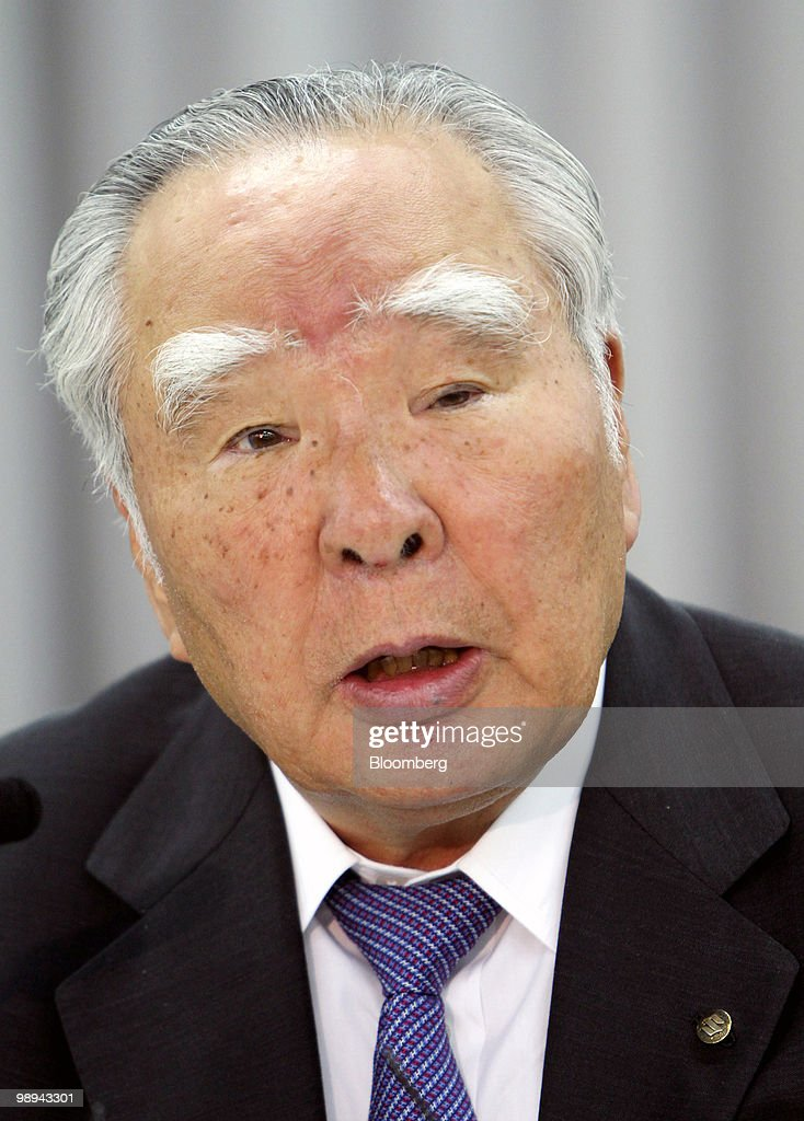 <a gi-track='captionPersonalityLinkClicked' href=/galleries/search?phrase=Osamu+Suzuki&family=editorial&specificpeople=580987 ng-click='$event.stopPropagation()'>Osamu Suzuki</a>, chairman, president and chief executive officer of Suzuki Motor Corp., speaks at a news conference in Tokyo, Japan, on Monday, May 10, 2010. Suzuki Motor Corp. forecast full year net income of 30 billion yen for the year ending March 2011. Photographer: Haruyoshi Yamaguchi/Bloomberg via Getty Images