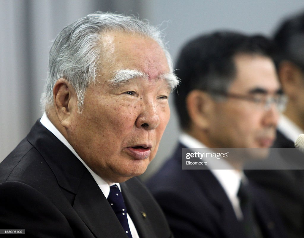 Osamu Suzuki, president and chairman of Suzuki Motor Corp., speaks during a news conference in Tokyo, Japan, on Friday, Nov. 9, 2012. Suzuki Motor's China October sales dropped 29% from a year earlier to 17,000 units. Photographer: Haruyoshi Yamaguchi/Bloomberg via Getty Images Osamu Suzuki