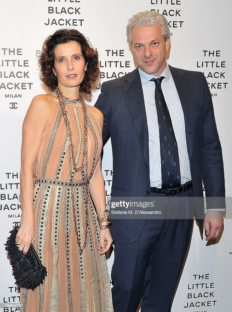 Osanna Visconti di Modrone and Giangaleazzo Visconti di Modrone attend Chanel The Little Black Jacket - Karl Lagerfeld Photography Exhibition Dinner Party on April 4, 2013 in Milan, Italy.