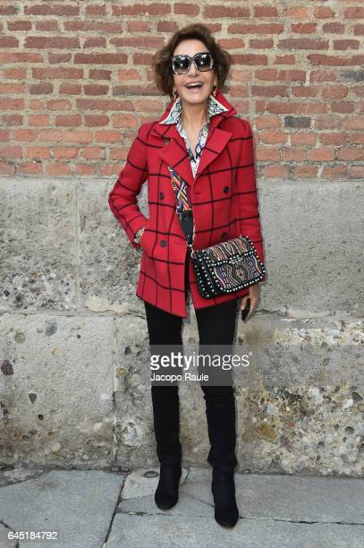Osanna Visconti di Modrone attends the Bottega Veneta show during Milan Fashion Week Fall/Winter 2017/18 on February 25 2017 in Milan Italy