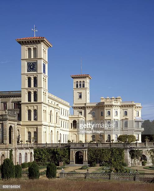 Osborne House East Cowes Isle of Wight c19902010 An exterior view of the Clock Tower the Main Wing and the Pavilion from the South East A former...