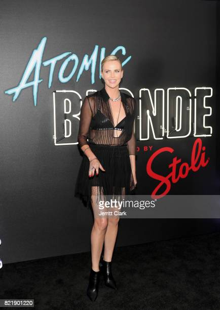 Oscar awardwinning actress Charlize Theron attends the American premiere of Atomic Blonde at The Theatre At The Ace Hotel on July 24 in Los Angeles...