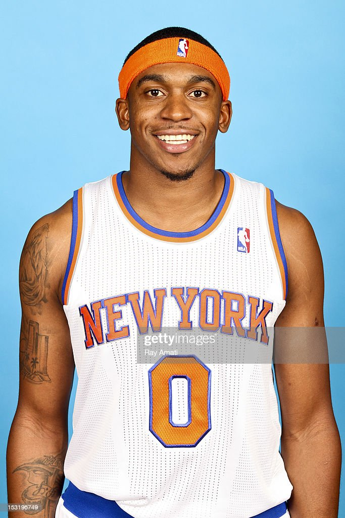 Oscar Bellfield #0 of the New York Knicks poses for a photo during the New York Knicks Media Day on October 1, 2012 at the Madison Square Garden Training Center in Tarrytown, New York.