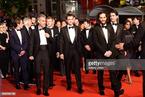 Oscar Boyson Ronnie Bronstein Sebastian Bear Robert Pattinson Josh Safdie and Benny Safdie attend the 'Good Time' screening during the 70th annual...